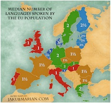 Carte billinguisme Europe